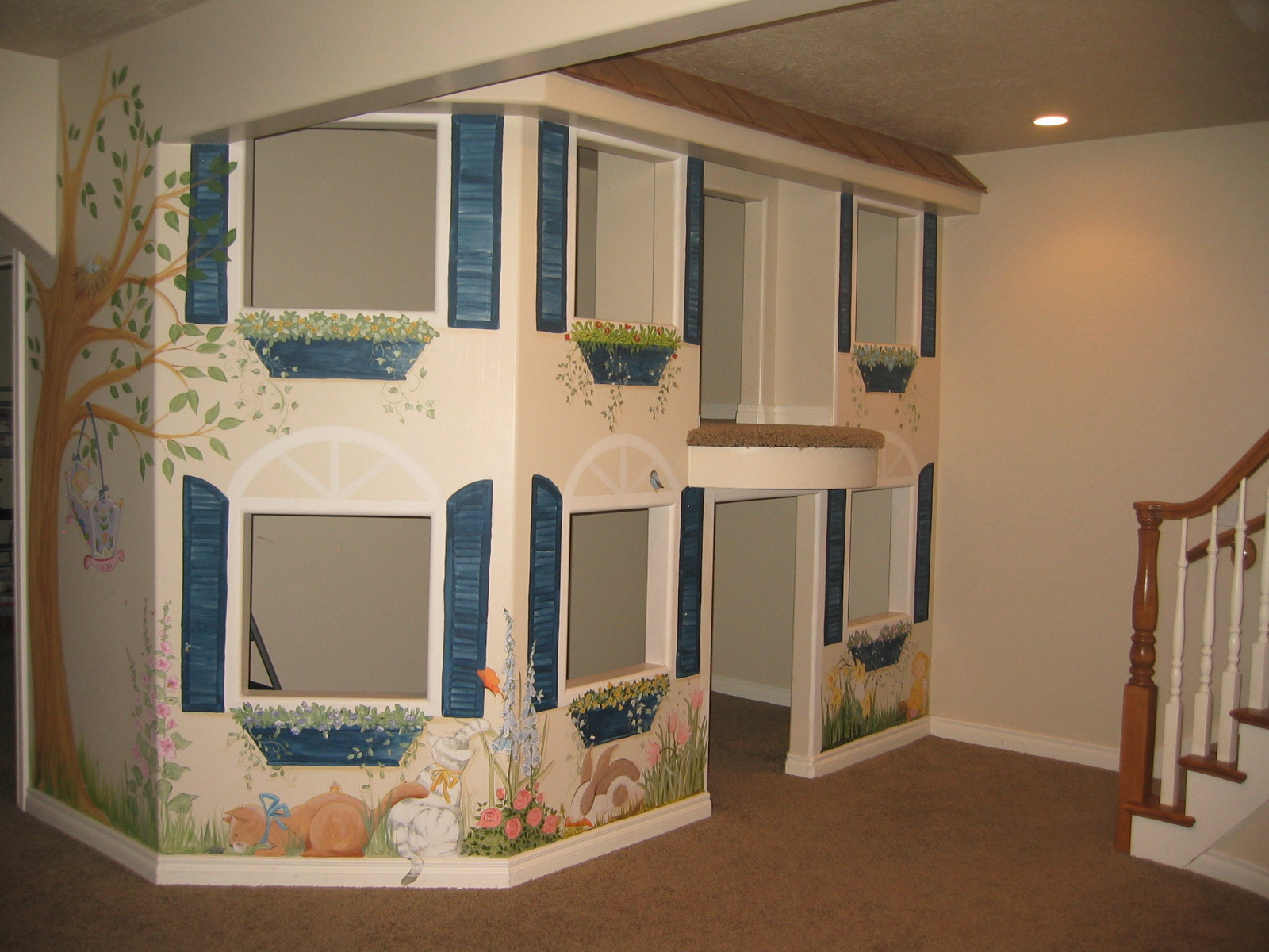 Active playroom anyone have or want one mothering forums - Cool basement ideas for kids ...